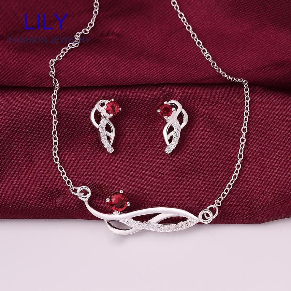 s697 2014 classic ruby jewelry sets fashion jewellery 925