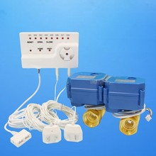 100dB Auto Stop Valve 8pcs 6m Motion Sensor and Alarm Water Leak Stop Detector for Smart House Security System(DN15 2pcs)(China (Mainland))