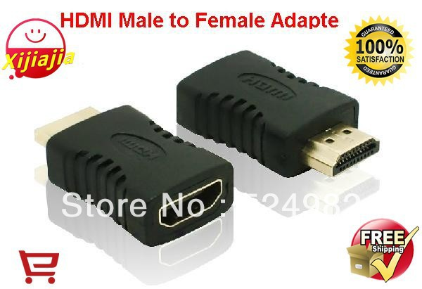 Wolesale- 2013 NEW, 20 Pieces HDMI Male to Female Adapter Connector, HDMI Extension cord Adapter,HDMI Plug ,Free shipping(China (Mainland))