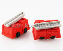 Freeshipping  lovely wholesale transport eraser/ fire engine eraser/bulldozer eraser/truck eraser MOQ 60 pieces per lot