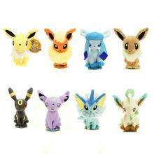 Nuevo Pokemon 8 diseños diferentes 18 cm muñeco de peluche de Eevee Rare Soft Toy Doll regalo de cumpleaños para los niños compras libres(China (Mainland))