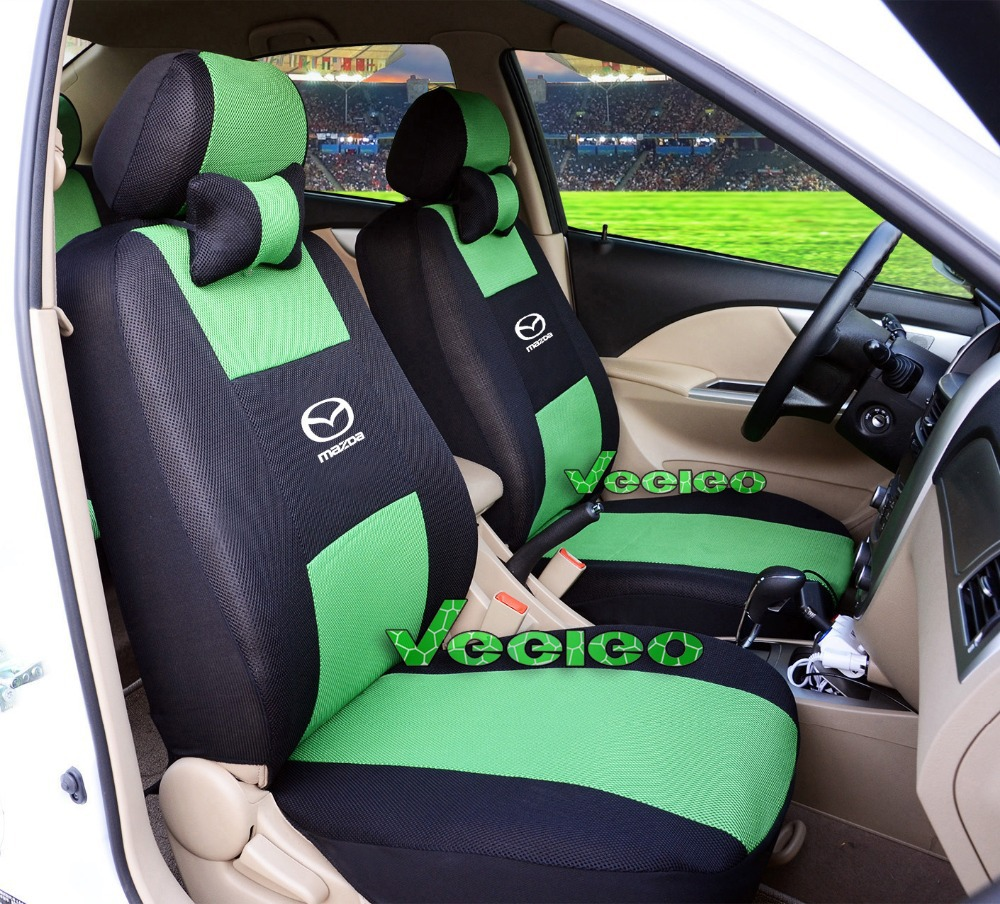 Logo+ Customized Universal Car Covers For All MAZDA 5 Seats Car Airbag Compatible Breathable Material+Two Pillows+Free Shipping(China (Mainland))