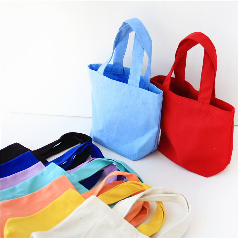 2017 New Lovely Candy color bag for kids female tote bag small canvas handbag casual bolsos mujer portable beach shopping bag(China (Mainland))