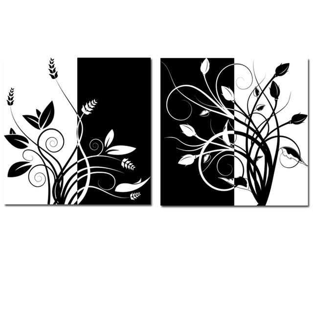 Easy black and white paintings the for Black white canvas paintings