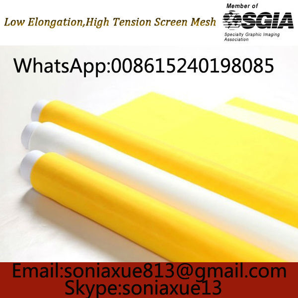 Faste Delivery!! 110T/280mesh-145CM 115meter Yellow Silk Screen Mesh(China (Mainland))