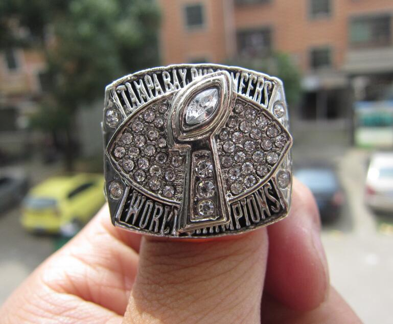 Free Shipping 2002 Tampa Bay Buccaneers Super Bowl Championship Ring size 11 Fan Gift Football ring Wholesale(China (Mainland))