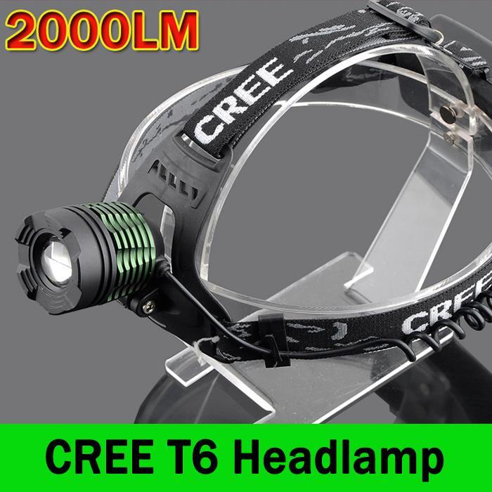 LED 2000 Lumen Zoomable XM-L T6 Headlight Head Torch Lamp Headlamp Flashlight 3-modes Camping Fishing Climbing lamp ZK93(China (Mainland))