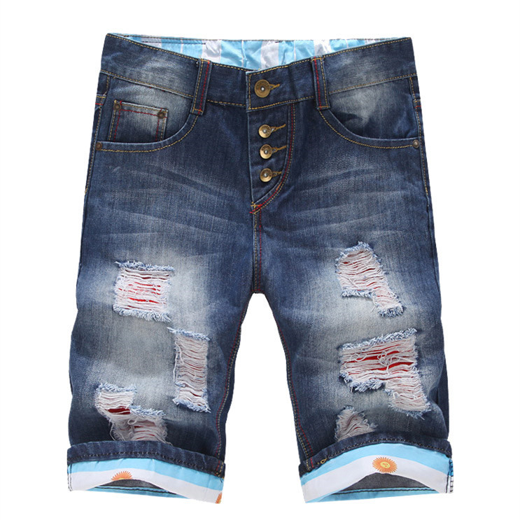 Шорты до колена из джинс