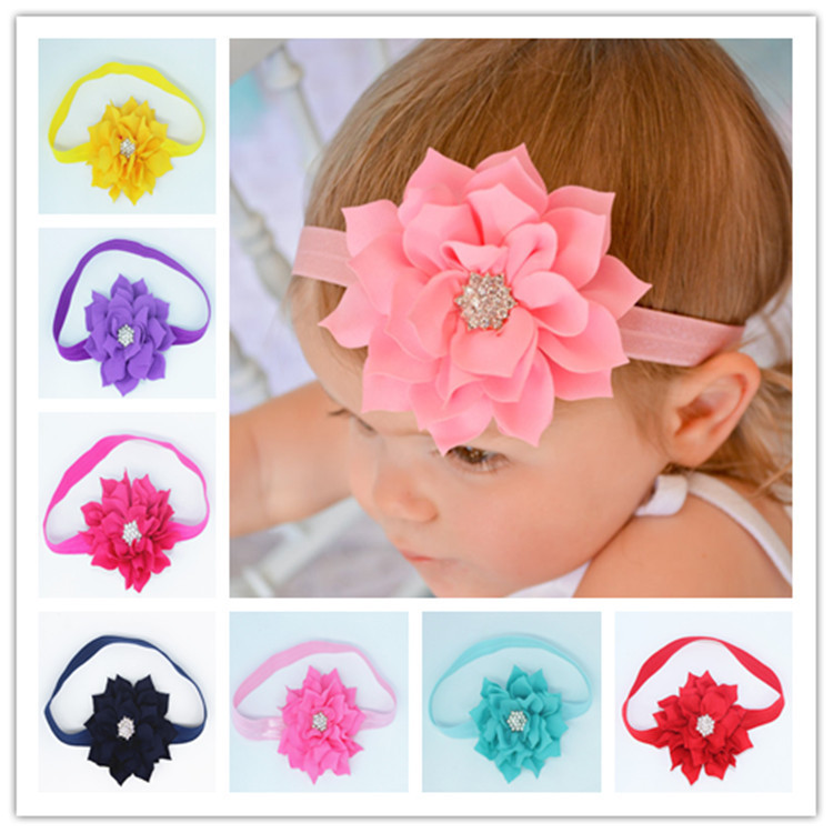 1 unids retail flower headband for baby Newborn Infant Toddler girls hair accessory helmet band Free Shipping TS-5457(China (Mainland))