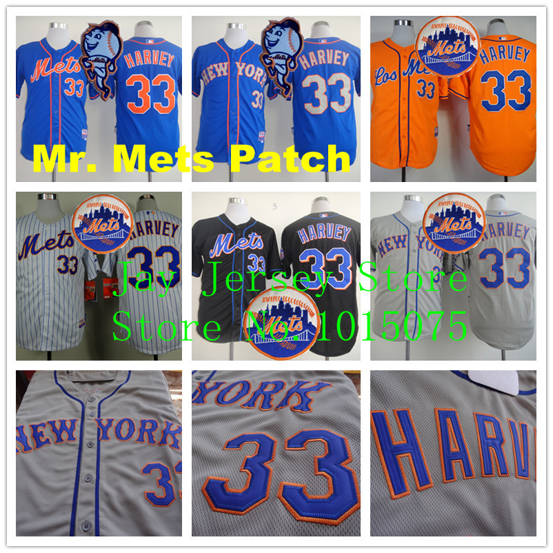 Matt Harvey Jersey 2015 Mr. Mets Patch Blue Black White Orange Pinstirpe  New York Mets Jerseys(China (Mainland))
