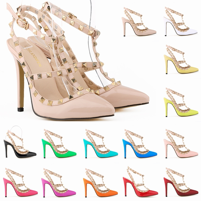Free shipping women fashion sexy personality hollow rivets stitching fine with high-heeled shoes Wedding Banquet 302-5PA(China (Mainland))