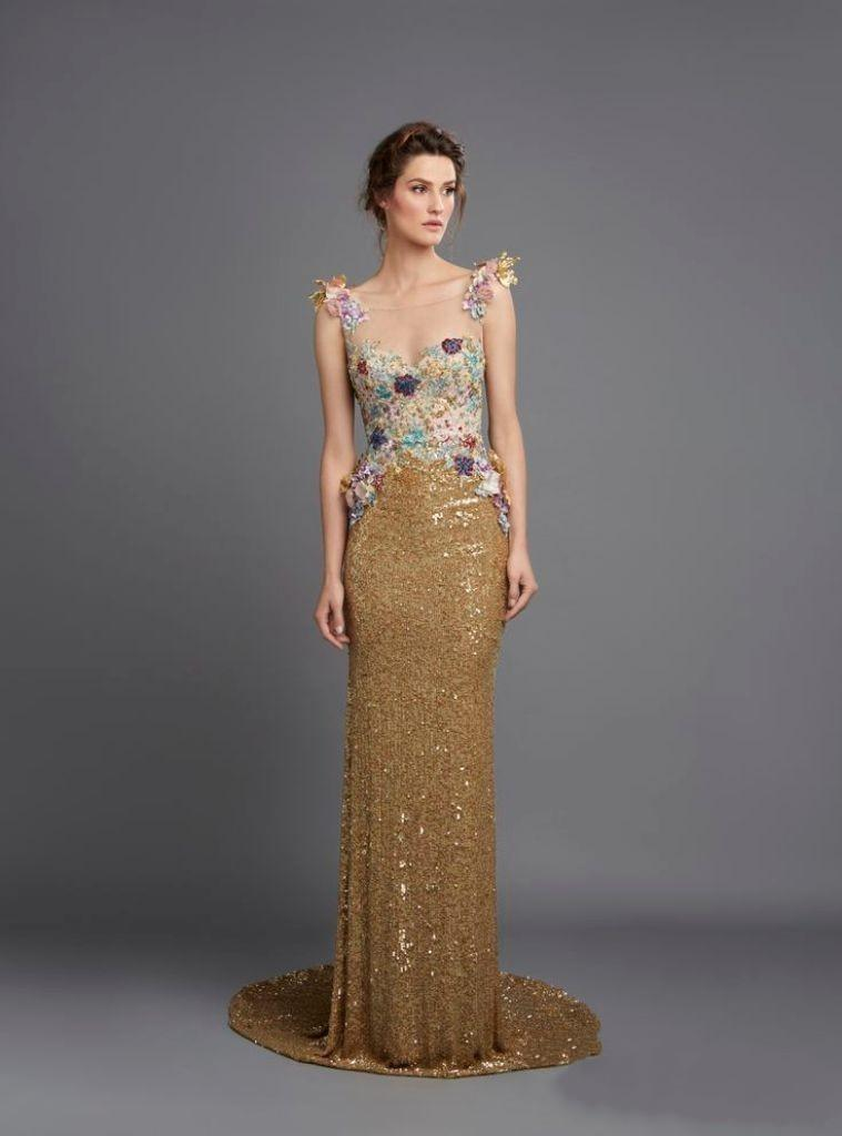 Gold Evening Dress - Dress Xy