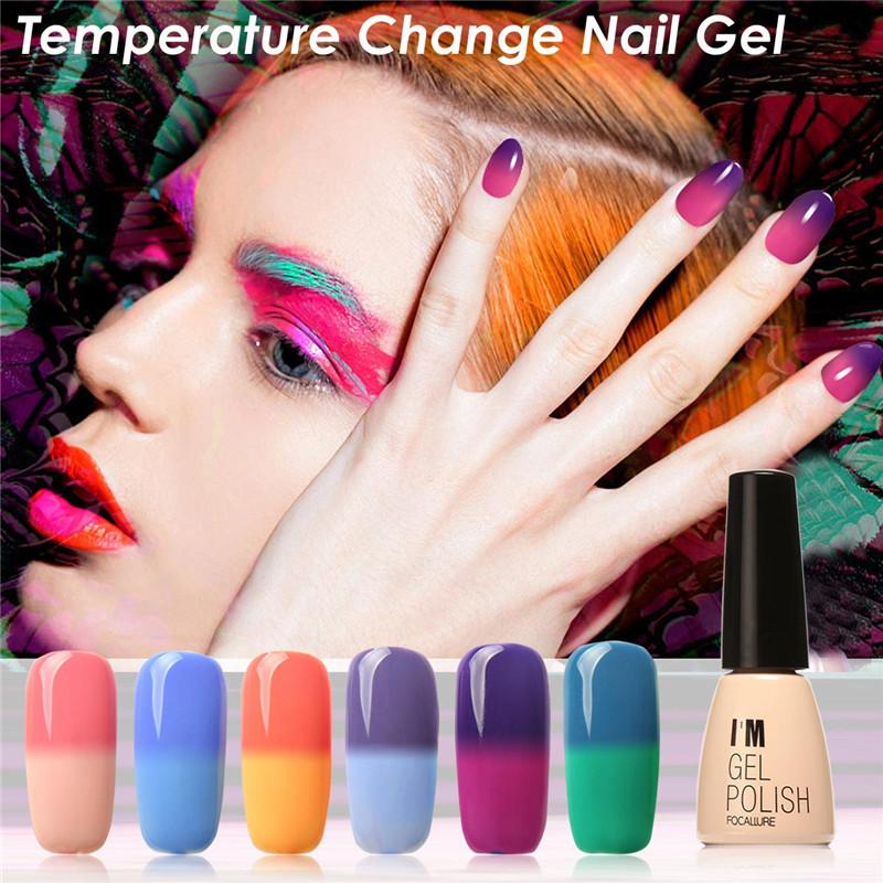 30 Colors Gel Nail Polish Nail Manicure Polish Uv Gel 7ml Waterproof Lasting Bright Colorful Temperature Change Nail Gel(China (Mainland))