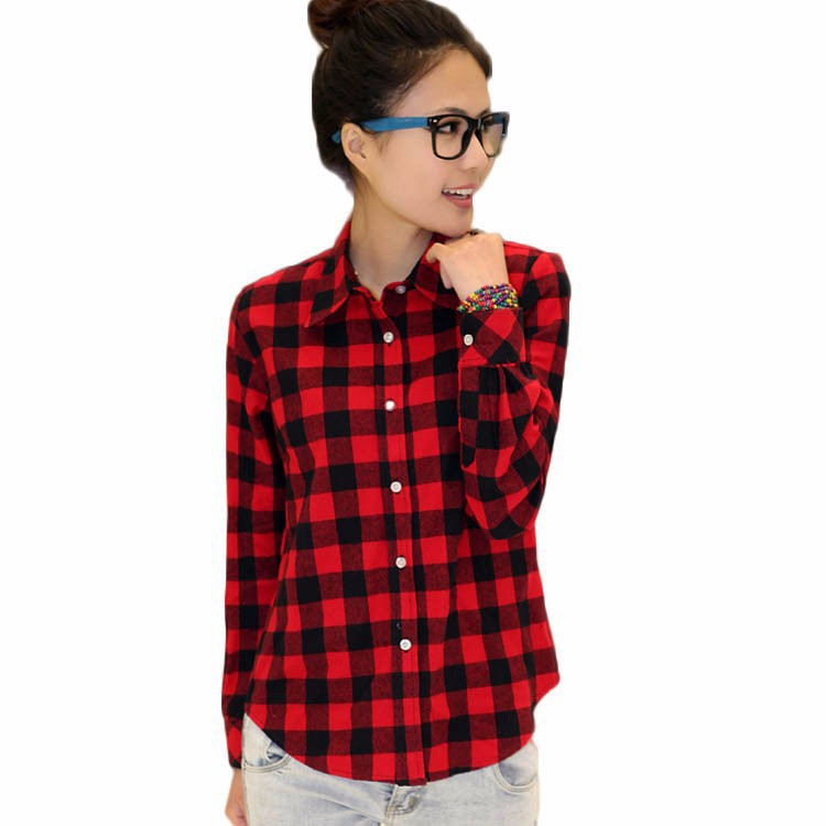 Red and black shirts for womens is shirt Womens red tartan plaid shirt