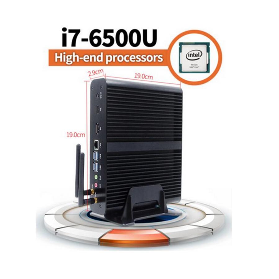 Mini PC Core i7 6500U Micro Ordinateur HTPC Windows 10,Linux 2016 Nouveau 6Gen Skylake Fanless Max 3.1 GHz 4*USB 3.0+1*USB 2.0(China (Mainland))
