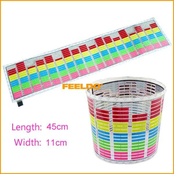 40sets Car Music rhythm lamp led sound activated equalizer Multi color flashing light #3771(China (Mainland))