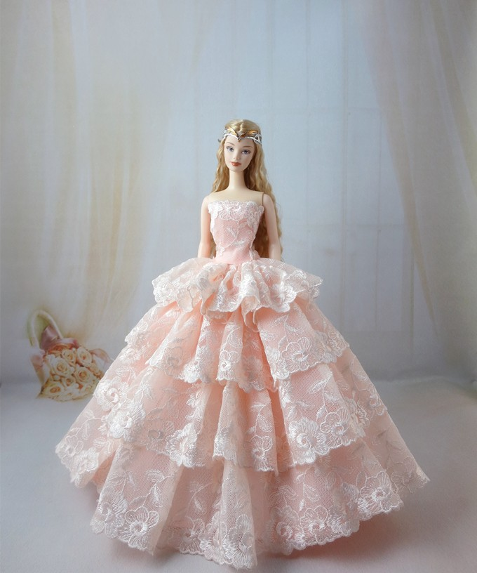 Buy Pink Princess Dress Barbie Doll At Aliexpress