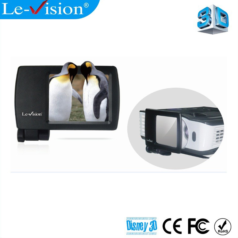Le-Vision T1001 home cinema mini 3D polarizer LCD polarized 3D modulator for projector dlp link/ home theater system/ FPR tv(China (Mainland))