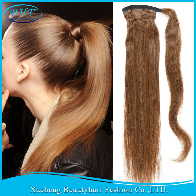 Human Hair Ponytail Wrap Around Hair Extensions Richardson
