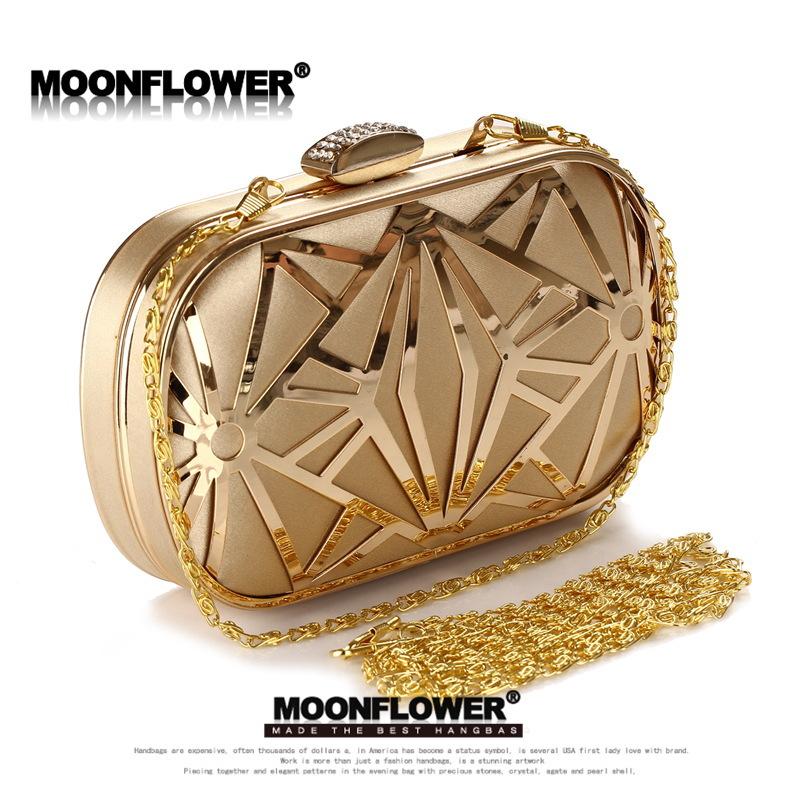 Free Shipping Handbags 2014 New European And American Popular Dinner Will Be Hollow Iron Mesh Bag Messenger Bag Hand(China (Mainland))
