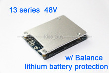 13S 48V Li-ion Lithium Cell 20A 18650 Battery Protection BMS PCB Board with Balance Electric Bicycle Protection Board(China (Mainland))