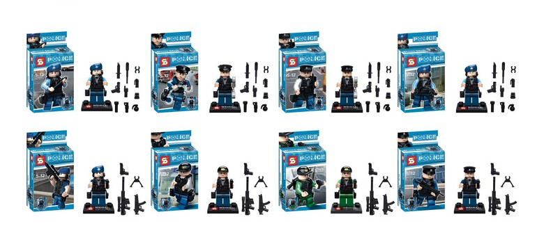 480pcs/lot SY278 Police S.W.A.T Minifigure Building Blocks<br>