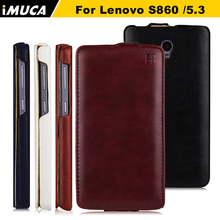 for lenovo s860 cases vertical leather cover for Lenovo S860 S 860 Flip leather case cover IMUCA brand mobile Phone Accesssories(China (Mainland))