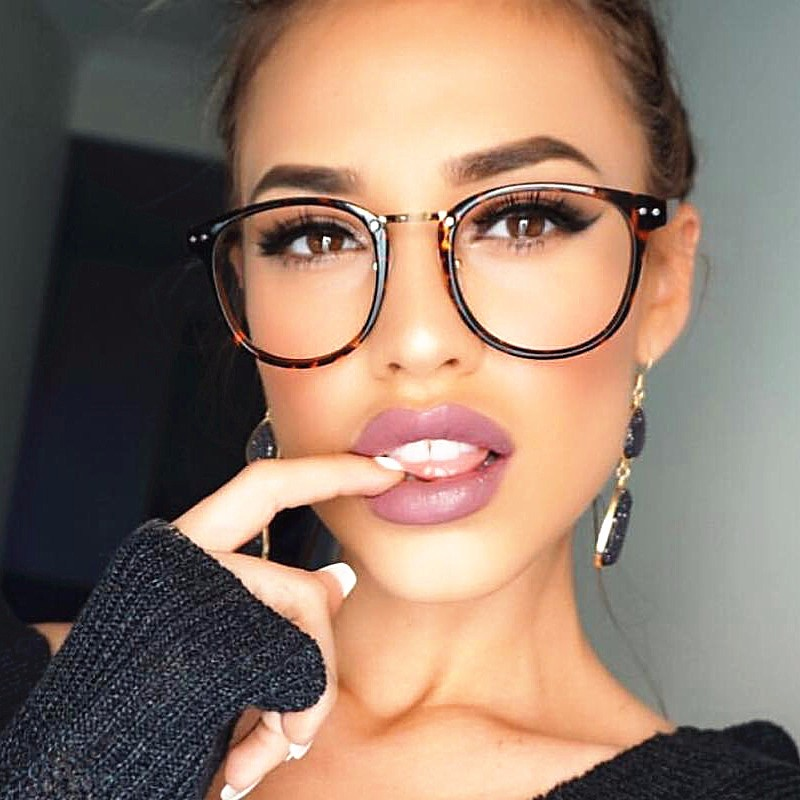 2018 Wholesale Rivet Women Optical Glasses Frame Designer Eyeglass ...