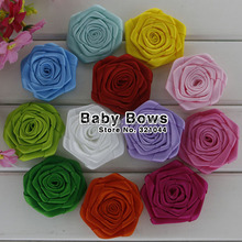 1000pcs lot Kids Hair Accessory Headwear Rose Flowers Decoration For Garment Accessories 19 Color Is Available