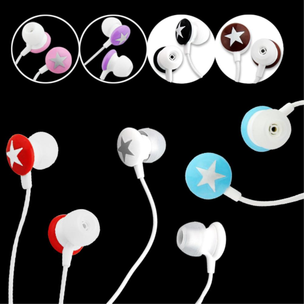 7 Colors Universal 3.5mm In-ear Star Stereo Earphone For iPhone 3G 3GS 4 4G 4S for HTC G8 G7 for Blackberry for LG(China (Mainland))