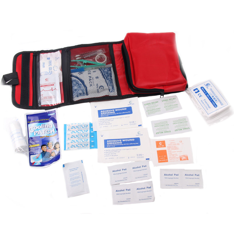 33Pcs/Set Medical Bag Outdoor Camping Earthquake Car Survival Medicine Waterproof &Wear-Resistant Portable Family First aid Kit(China (Mainland))