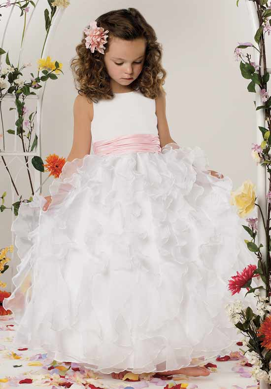 High Quality Ruffle Organza Flower Girl Dress Ivory Promotion-Shop ...