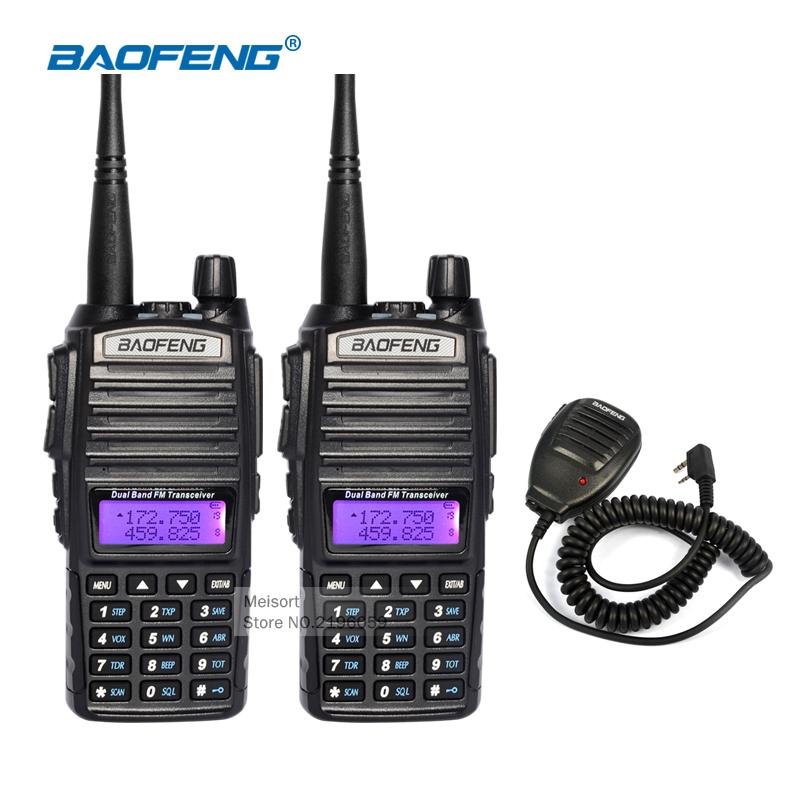 Portable Walkie Talkie Pair Baofeng uv-82 Dual Band 136-174/400-520MHz FM Two Way Radio CB Ham Radio Communicator HF Transceiver(China (Mainland))