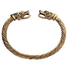 Подростковый браслет с волчьей головой, индийские ювелирные изделия, модные аксессуары, викинги, мужские часы наручные браслеты-манжеты дл...(China)