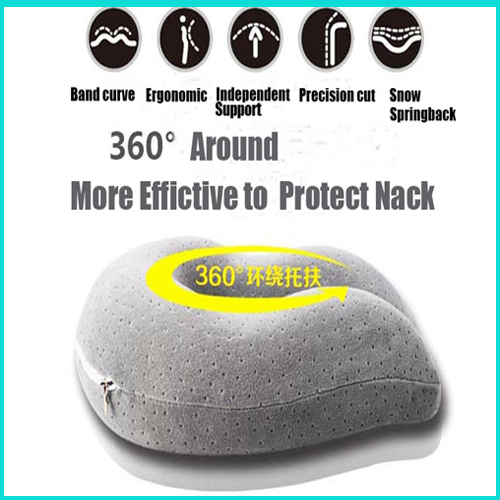 Travel Neck Pillow Nack Cushion Space Memory Pillow Travel Pillow Health Care Adult Neck Pillow Foam Pillow Cotton Outside(China (Mainland))