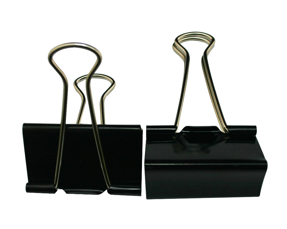 Large Binder Clips 2 Inch Width and 1.2 Inch Capacity book clip Color Black Pack of 10(China (Mainland))