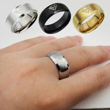 Jewelry Simple Men Ring Superman Logo Finger Rings 3 Colors  Fashion RING-010931