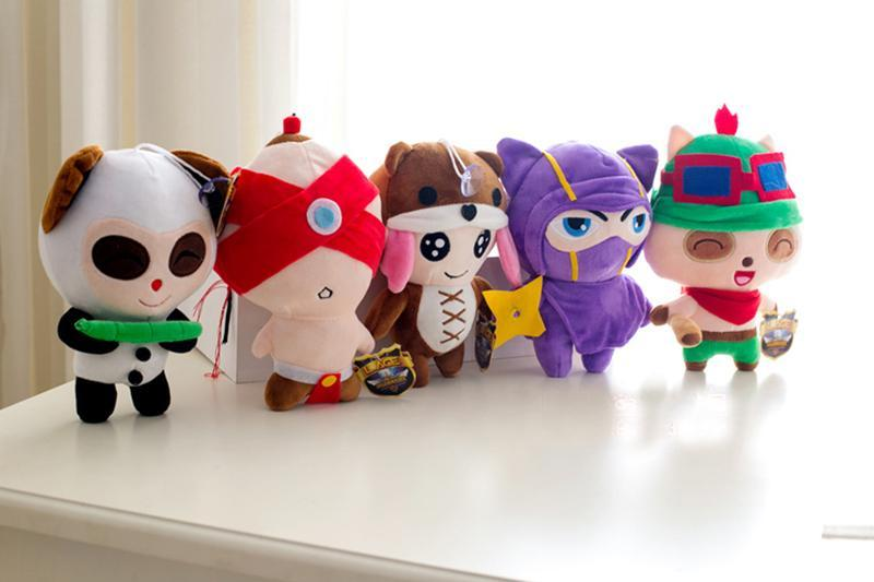 2015 new High Quality LOL Game 20cm 1PCS Teemo/blind monk Lee Sin/Annie/Kennen/ plush doll stuffed toy birthday gifts(China (Mainland))