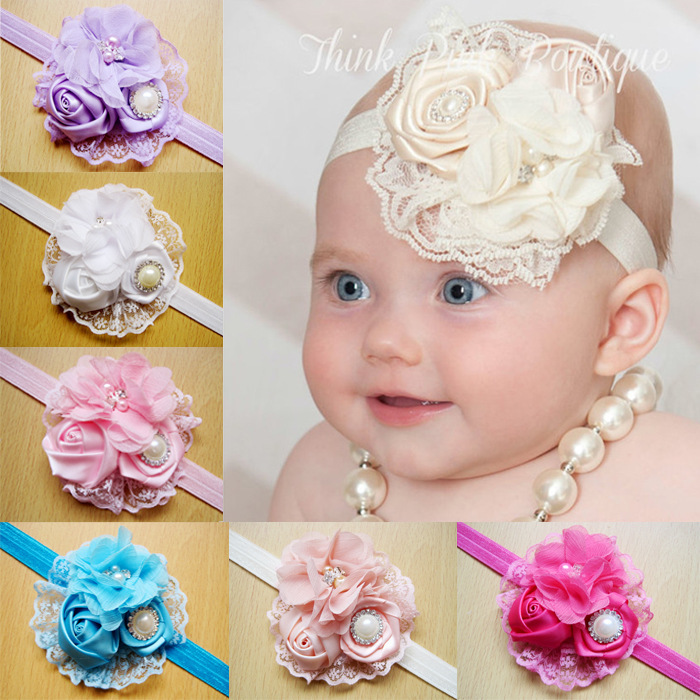 Girls headband BABY children's NEW designs head band toddler Flower baby hair ornaments accessories Children's Hair Accessories(China (Mainland))