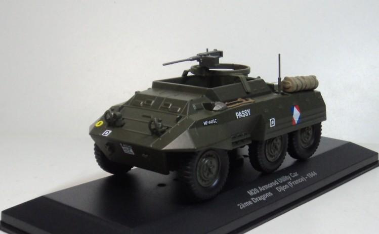 ixo - altaya 1/43 FORD M20 Armored Utility Car 1944 World War II military vehicles diecast car model(China (Mainland))
