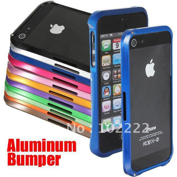 Deluxe Aluminum Frame Bumper Case Cover For iPhone 5 5G, 30pcs/lot , DHL Free Shipping