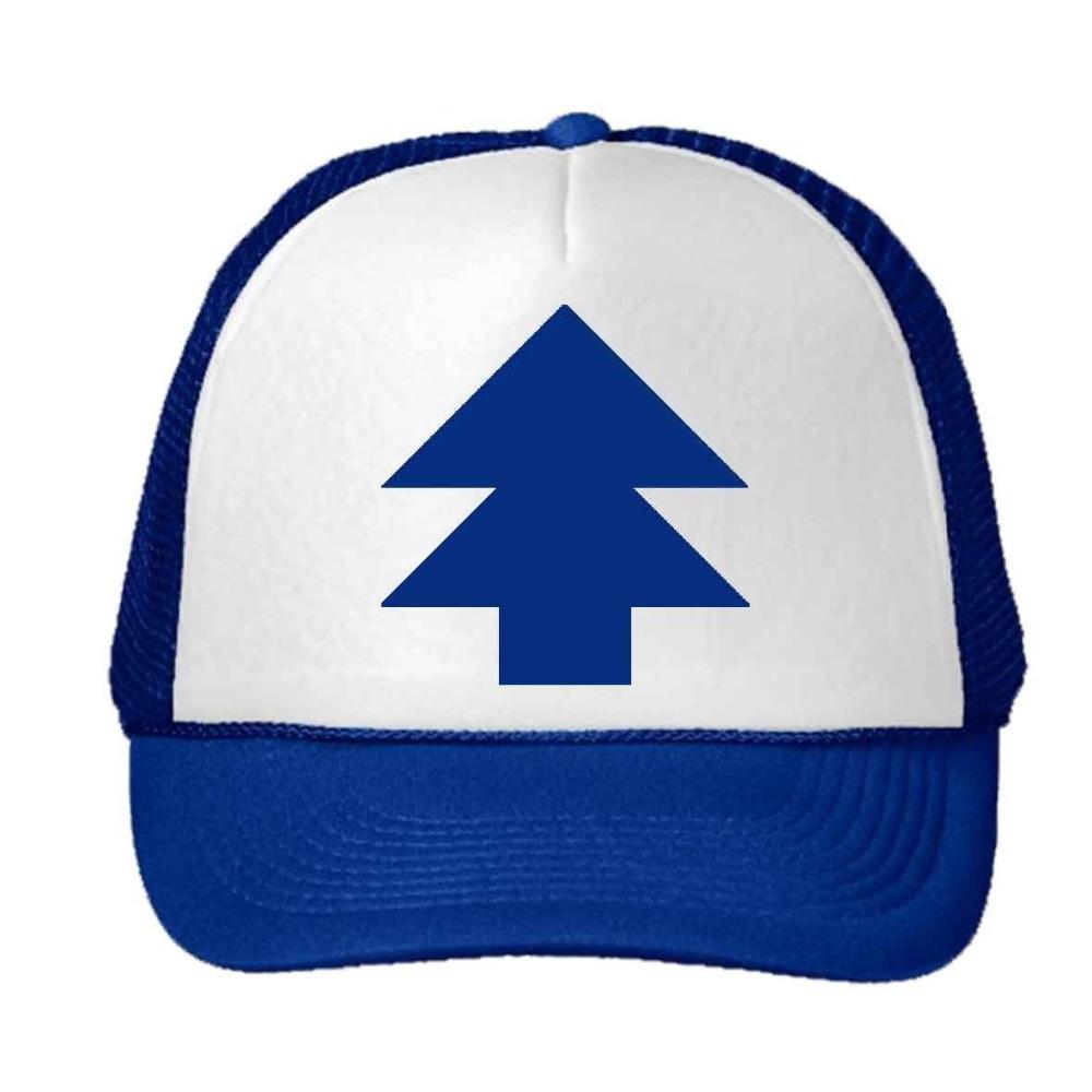 New Curved Bill BLUE PINE TREE Dipper Gravity Falls Cartoon Hat Cap Trucker Free Shipping(China (Mainland))