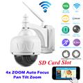 HD 720P Wireless WiFi IP Camera PTZ 2 8 12mm 4XZoom Auto focus IR CUT Onvif