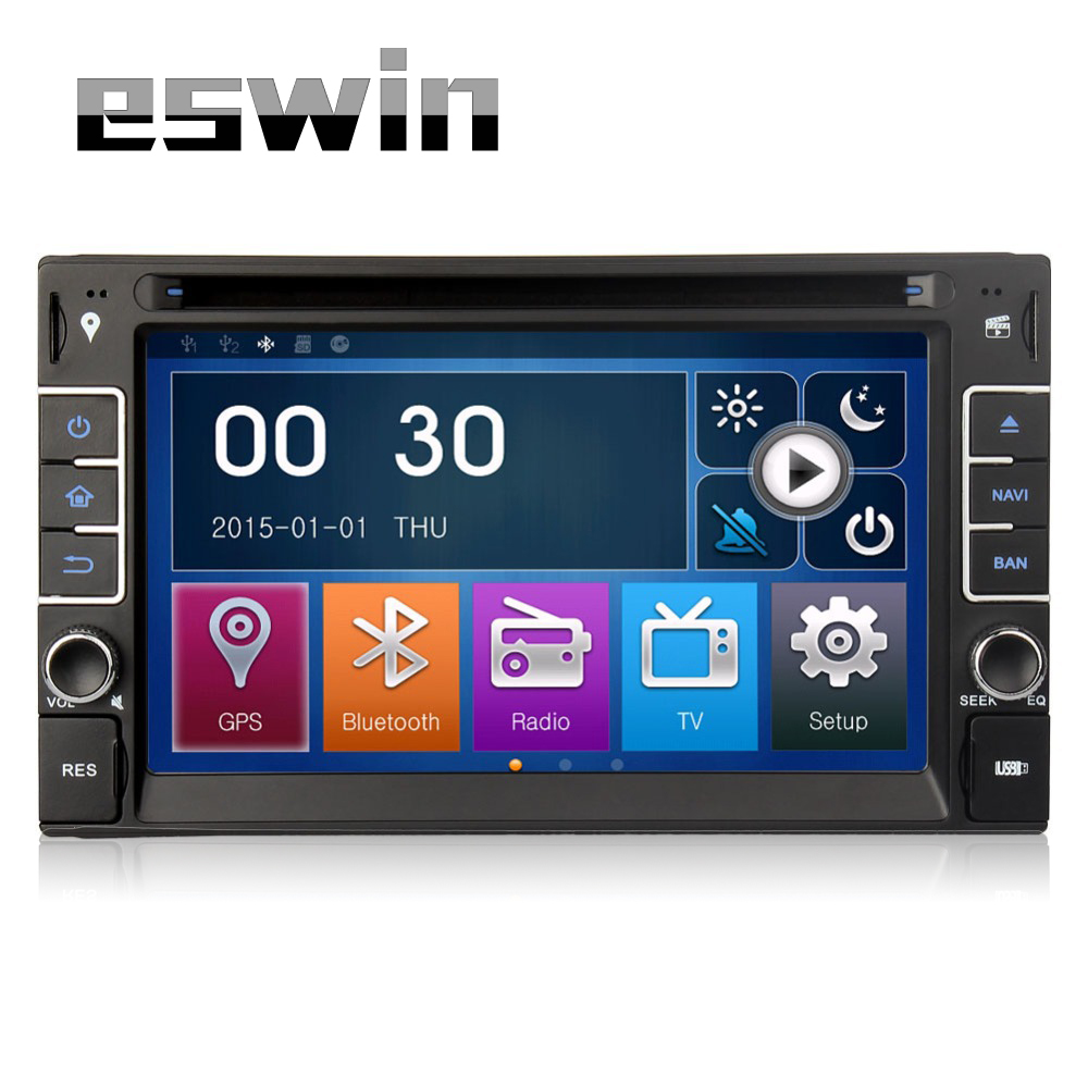 2din universal Car Radio Double 2 din Car Headunit DVD Player GPS Navigation In dash Car PC Stereo video Free Map FM AM MP3 SD(China (Mainland))