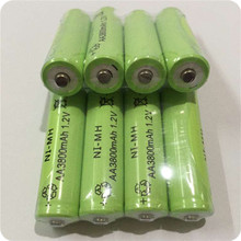 8pc a lot Ni-MH 3800mAh AA Batteries 1.2V AA Rechargeable Battery NI-MH battery for camera,toys etc-PKCELL
