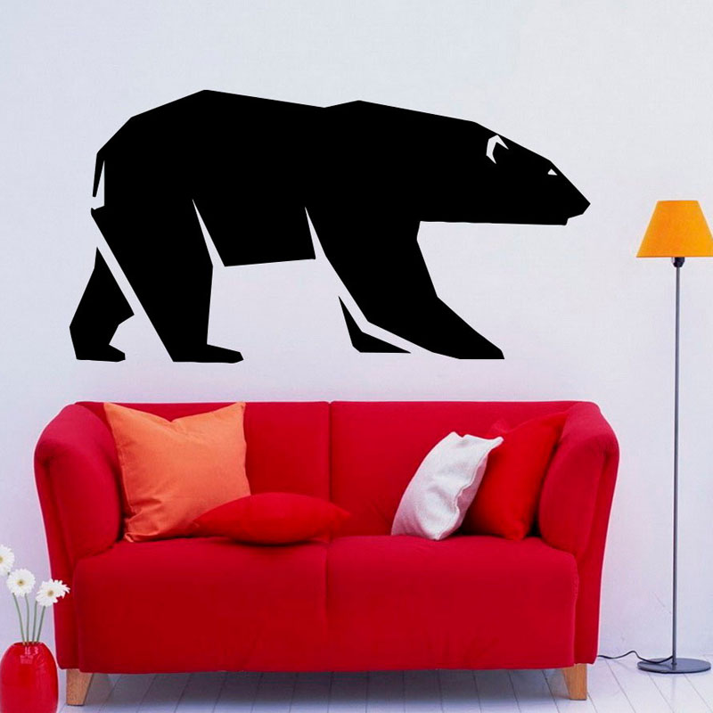 Hot Selling The Grizzly Bear Walking Wall Stickers Removable Wall Decals Vinyl Stickers Home Deocr Quotes(China (Mainland))