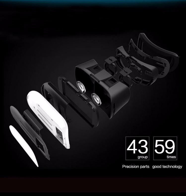 ถูก 3D VRกล่องหัวหน้าเมากระดาษแข็ง2.0ความจริงเสมือนVRชุดหูฟังแว่นตา3Dมือถือภาพยนตร์ที่สมจริงเกม+บลูทูธระยะไกลควบคุม