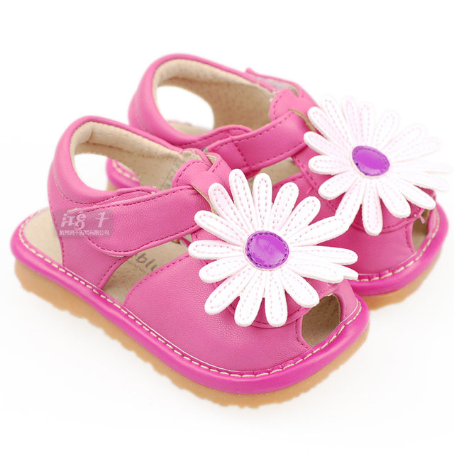 Sheep summer female open toe flower sound shoes baby shoes