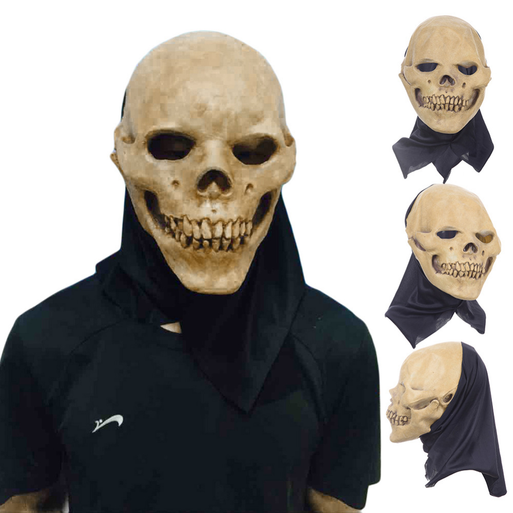 Horrifying Skull Monster Adult Latex Masks Full Head Breathable Halloween Masquerade Fancy Dress Party Cosplay Costume Mask(China (Mainland))