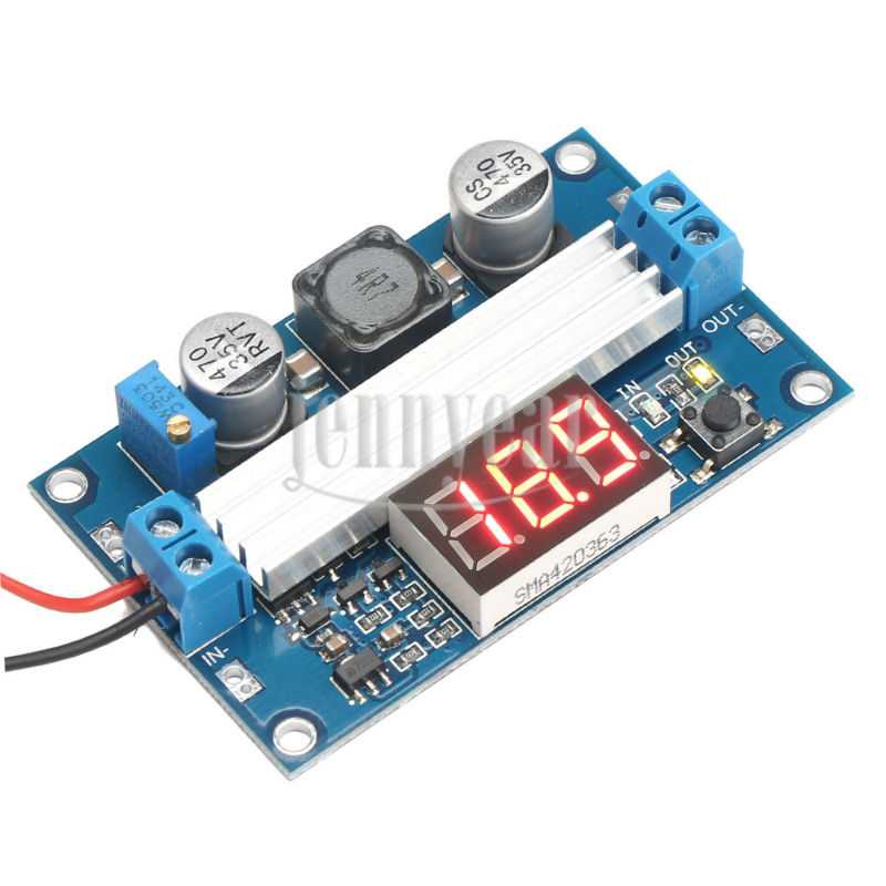 DC Adjustable Voltage Regulator 3~35V 3.7V/7.4V 3.5~35V Step-up Converter Power Adapter Laptop Supply + Voltmeter - Professional & Panel Meter Fun DIY store